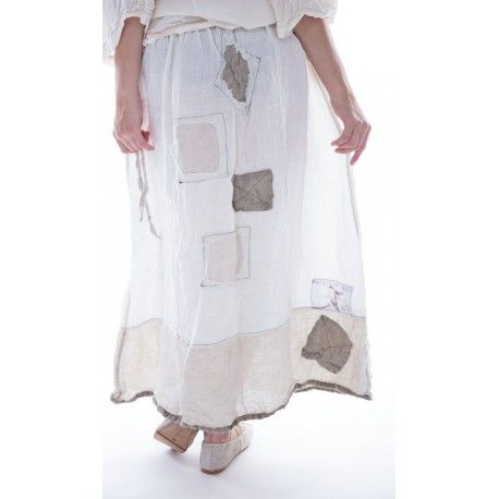 skirt Celestyna in Antique White and Flax