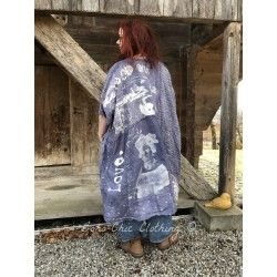 robe-tunique Jaya Kaftan Frida Collection in Fadded Boro