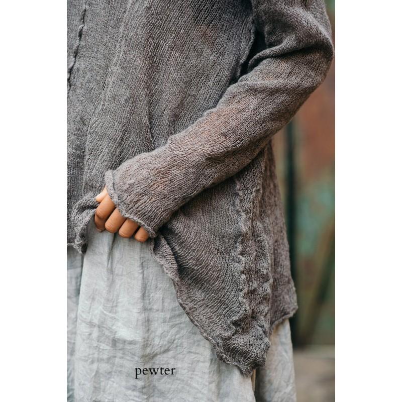 Pullover Wabi Sabi Pewter Boho Chic Clothing