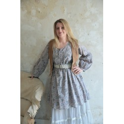 robe Roses en gris-bleu