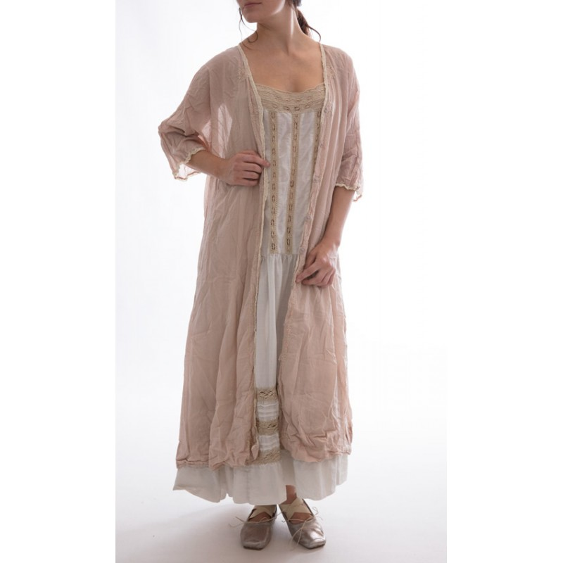 duster coat Cicely in Goose Feather - Boho-Chic Clothing