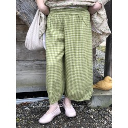 panty GUS green gingham linen