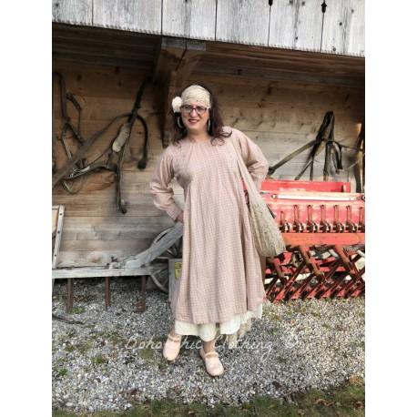 dress AGATHE pink checked cotton