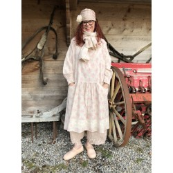 dress ONDINE pink flowers linen
