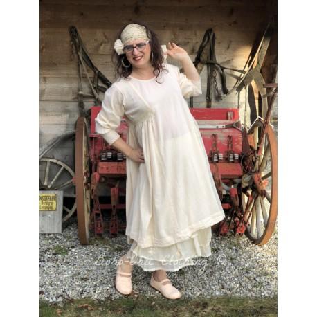 robe AGATHE coton rayé rose