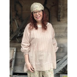 tunic AXEL pink checked cotton