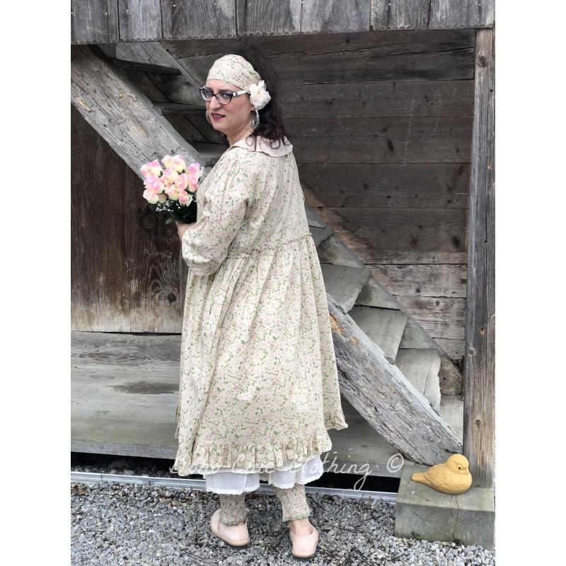 f45f07feb72 robe ORPHEE coton fleurs rose et verte - Boho-Chic Clothing