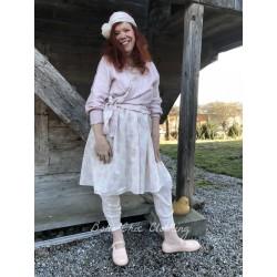 robe FLORIE coton fleurs rose