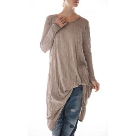 dress Babydoll with Long Sleeves in Clay