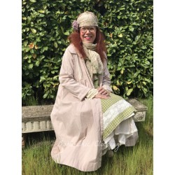 coat DOROTHEE in pink cotton poplin