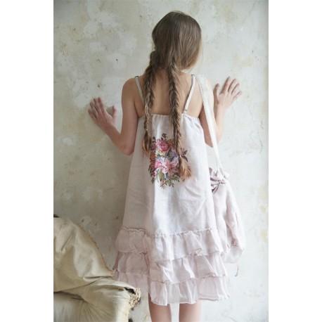 robe Natural sense en lin rose poudre