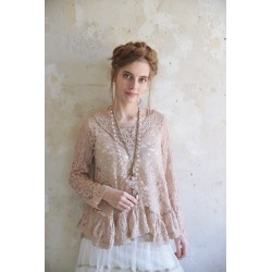 blouse Pure glory in Antique rose-brown Lace