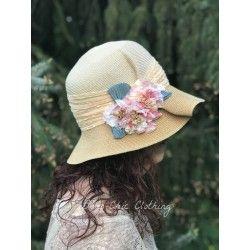 chapeau VALENTINA en chanvre crème et paille