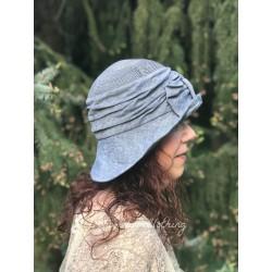 chapeau RAFFAELLA en chanvre et lin chambray