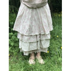 jupe / jupon JENNIFER coton fleurs rose