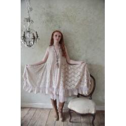 robe Genuine love en dentelle vieux-rose