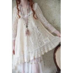 robe Lost bohemian en dentelle crème