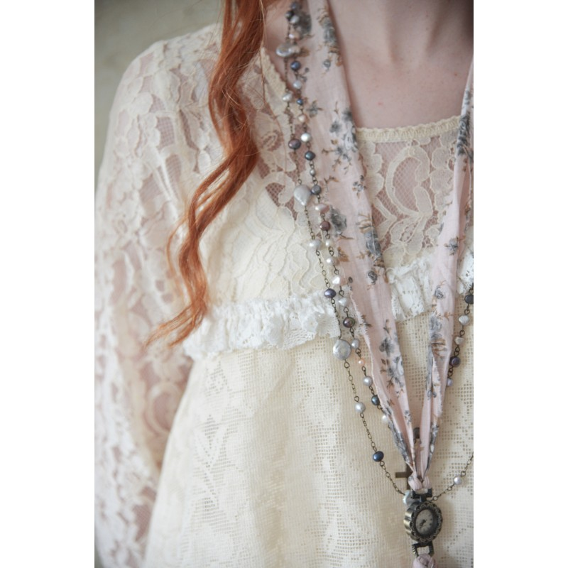Dress Lost Bohemian In Cream Lace Boho Chic Clothing