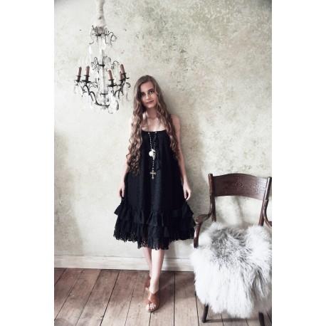 robe Natural charming en dentelle noire