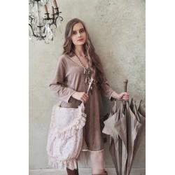 robe Delightful times en velours prune