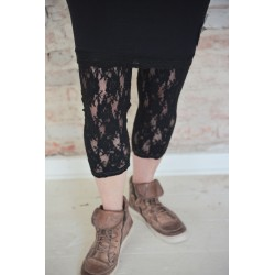 leggings Cosy Bohemian in Black lace