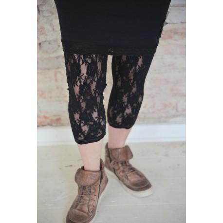 leggings Cosy Bohemian in Black lace