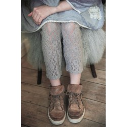 legging Cosy Bohemian en dentelle gris clair