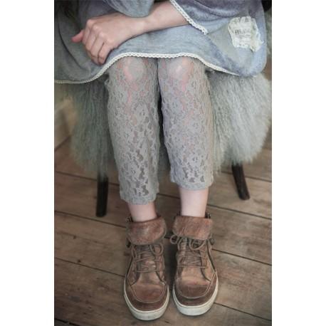 leggings Cosy Bohemian in Light grey lace