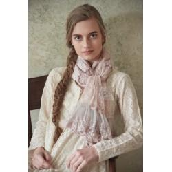 foulard Sweet believes en dentelle rose poudre