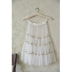 jupe / jupon Faded temptation en tulle blanc cassé