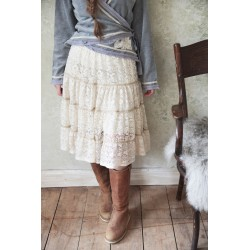 skirt Treasured feelings in Cream lace