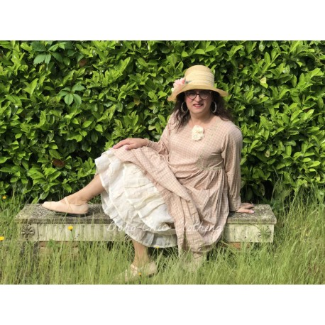 robe AGATHE coton carreaux rose