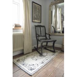tapis 70 x 140 cm en coton Gris et Noir