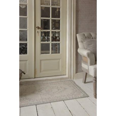 carpet 60 x 90 cm in Grey & Rose cotton