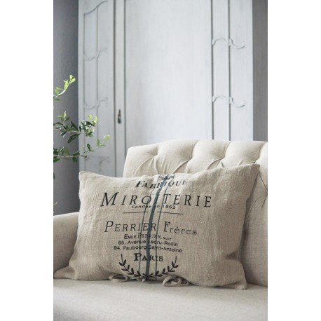 cushion cover Miroiterie 50 x 70 cm in linen