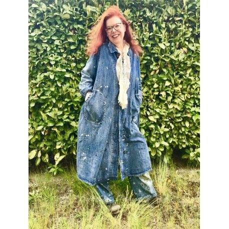 manteau Wells in Indigo