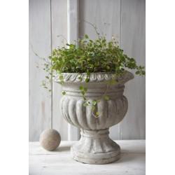 pot de fleurs Vintage 32 cm en ciment beige patiné