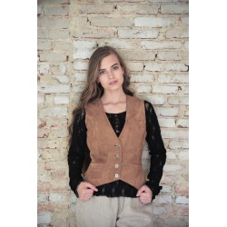 vest Treasured times in Warm brown