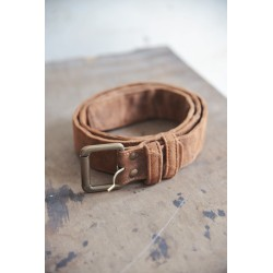 belt in Recycled goat leather