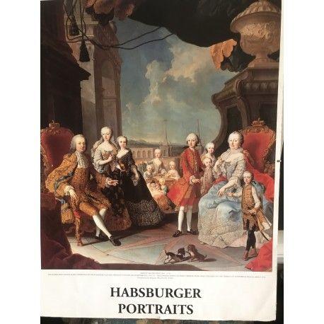 Poster sur carton impératrice Maria  et ses trois enfants