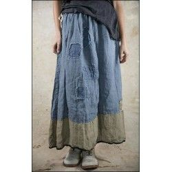 skirt Celestyna in Indigo and Graphite