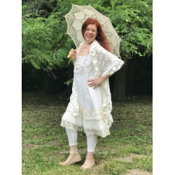 robe Natural charming en dentelle crème