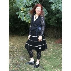 legging Cosy Bohemian en dentelle noire
