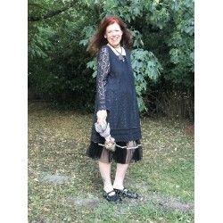 robe Blessed living en dentelle noire