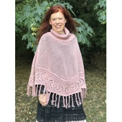 poncho Cosy moments en rose vintage