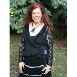 wrap blouse Soulful mind in Black lace
