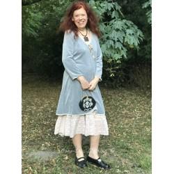 dress Delightful times in Light grey velvet