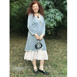 robe Delightful times en velours gris clair