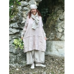 long dress NATACHA old pink linen