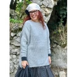 pull long LUCIEN laine gris clair
